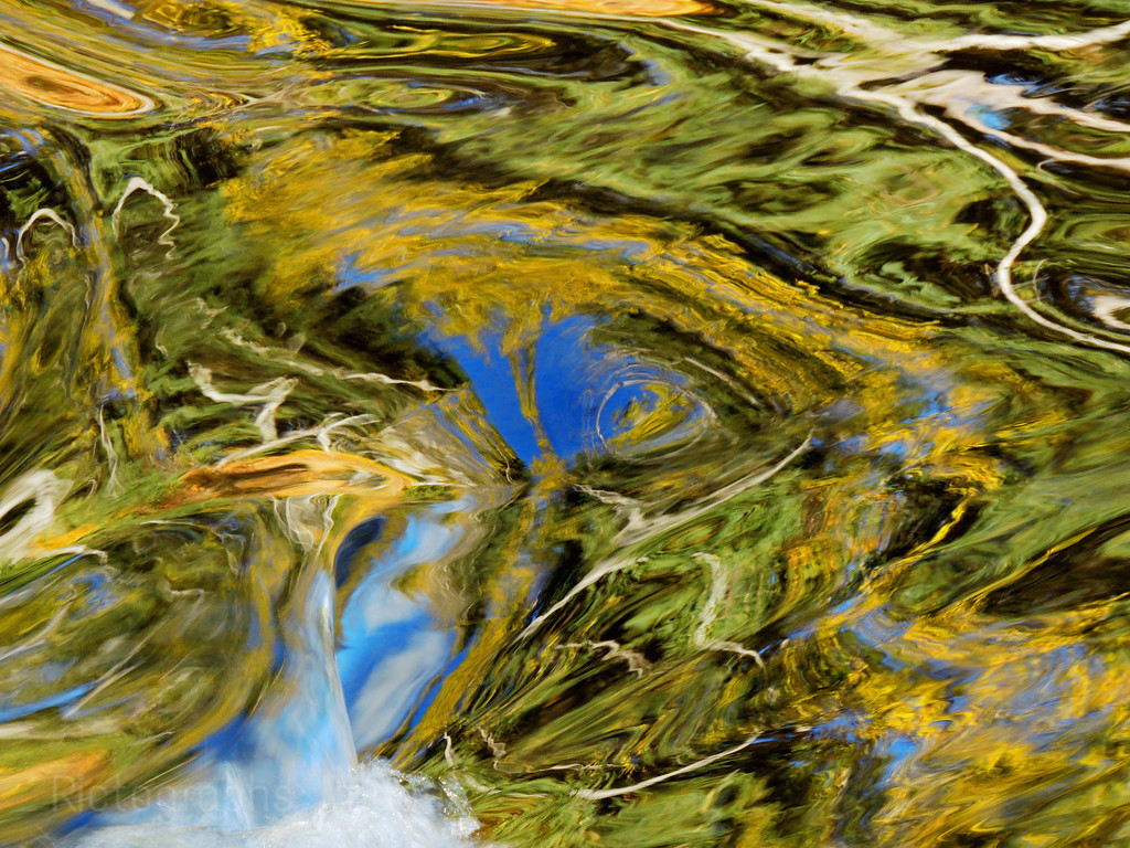 Abstract Art Patterns Reflected In Clean River Water