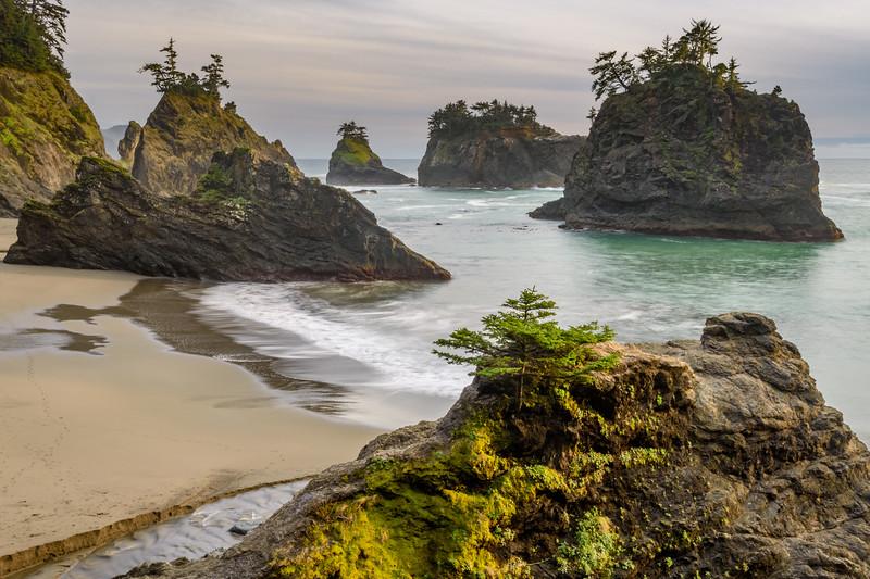 Secret Beach Sea Stacks