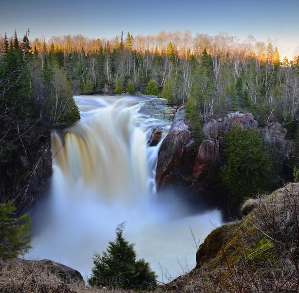 Aguasabon River Falls, Spring 2013, Terrace Bay, Ontario, Canada