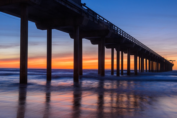 Scripps Pier Afterglow