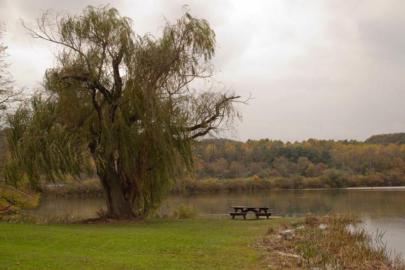 Fishing spot on Lake Redman in York, Pa.