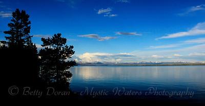 Yellowstone Lake at dusk