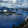Crater Lake with Snow