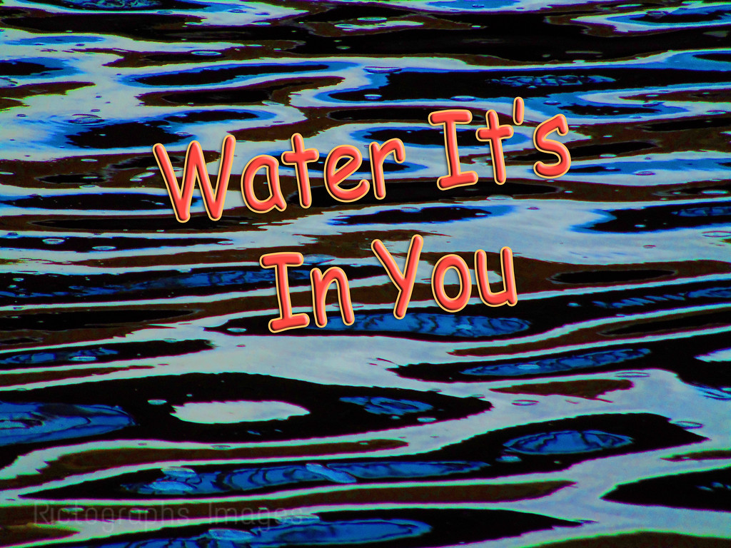 Blue Art Water Patterns; Water It Is In You; Rictographs