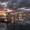Beautiful Sunset over downtown St. Petersburg, Florida