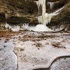 Frozen waterfall at Starved Rock State Park