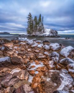 The Island in Winter