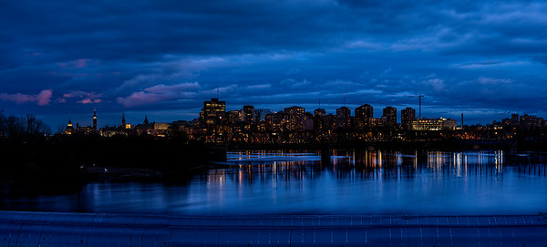 City of Ottawa Blue Hour Over The Ottawa River