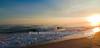 Sun setting off Emerald Isle