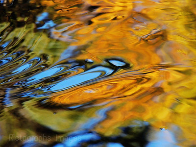 Colour Reflections in The Waters Of The MacIntyre River