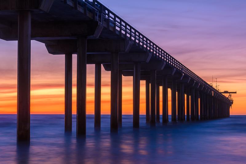 Scripps Pier after Sunset