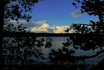 Yellowstone Lake at sundown