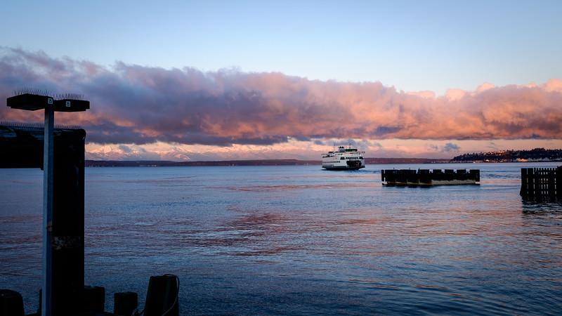 Ferry departing Seattle | Seattle, WA | December 2016