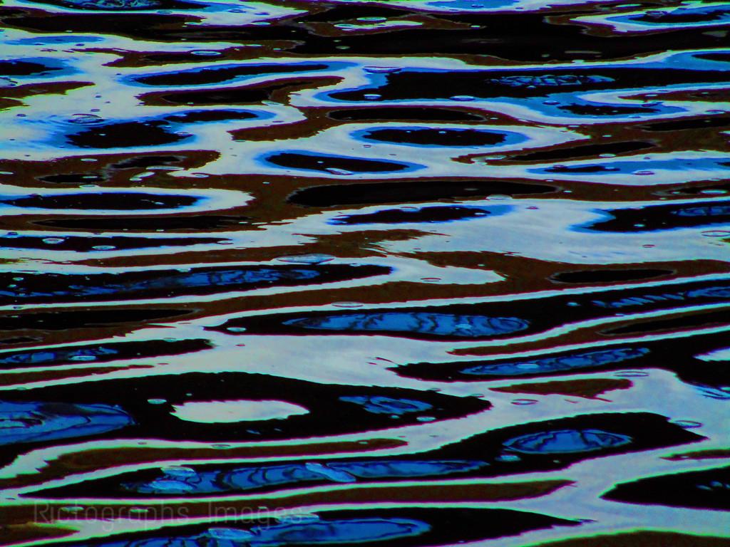 Blue Art Water Patterns