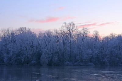 Frosty Lakeshore