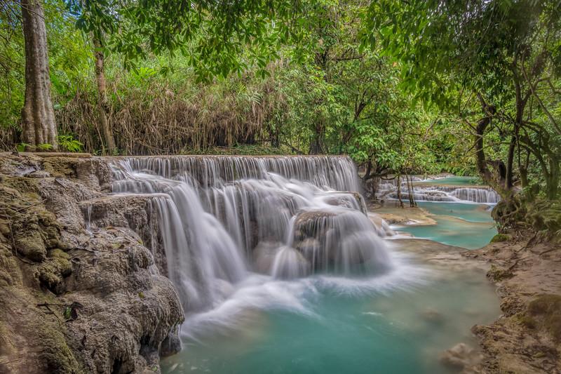 Middle Falls at Kuang Si