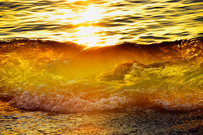 Lake Superior Waves, Golden Light, 2020
