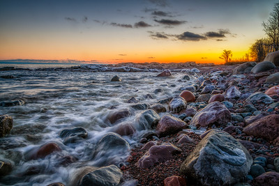 Icy Shore - Temperance River State Park