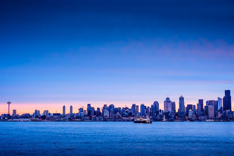 Seattle blue hour | Seattle, WA | January 2018