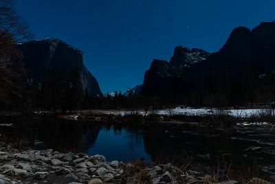 Yosemite Valley at Night