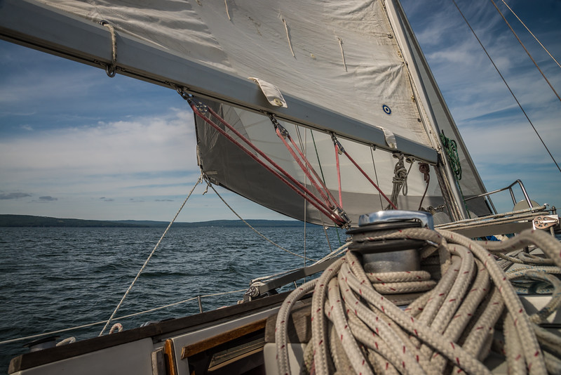 Under sail on Lake Superior