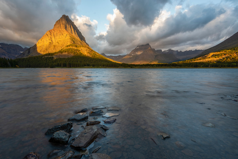 Autumn Morning at Swiftcurrent Lake