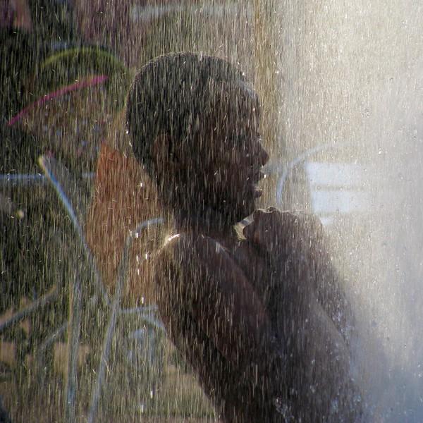 boy in the fountain