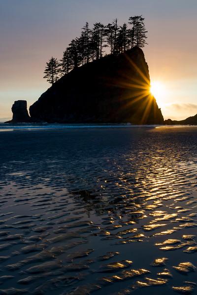 Seastack Sunset Silhouette