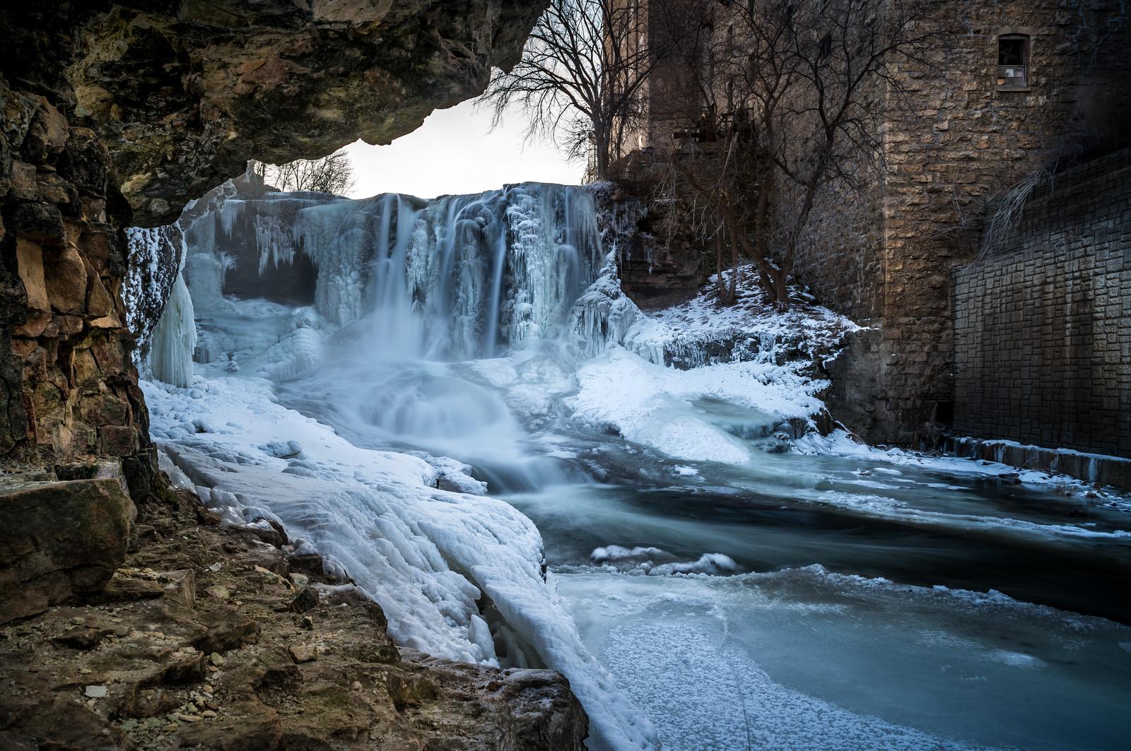 Frozen Vermillion Falls