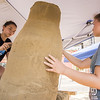 "CORY BYKNISH | Herald<br /> Georgia Coulter and Chloe Chinn of the Grove City Commuity Artist work on a sand sculptured with the theme ""Americana""."