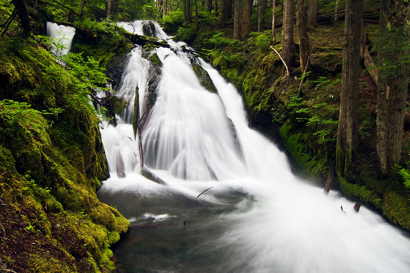 LIttle Zigzag Falls near Mount Hood, Oregon