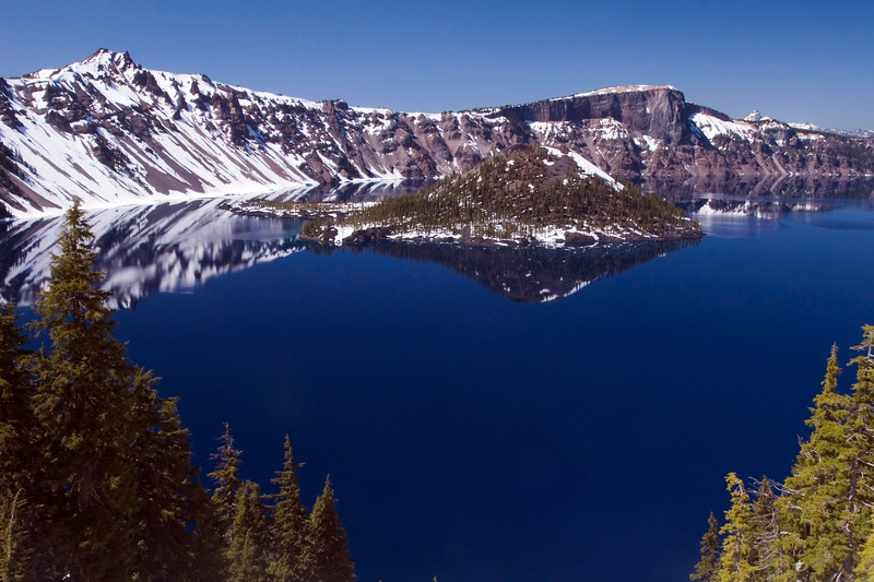The deep blue of Crater Lake.