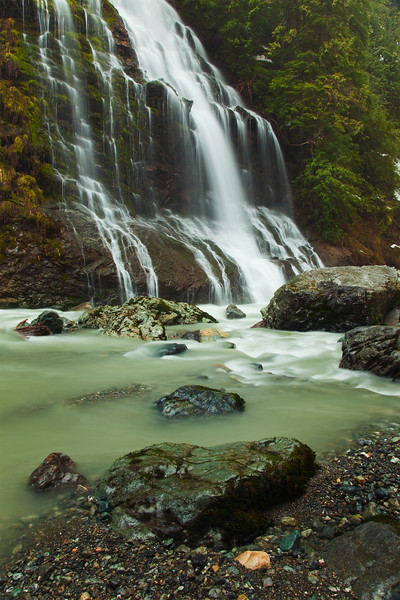 Boulder River and Falls, Mount Baker-Snoqualmie National Forest