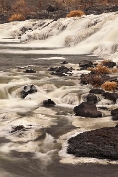 Winte below Upper Palouse Falls, Washington.