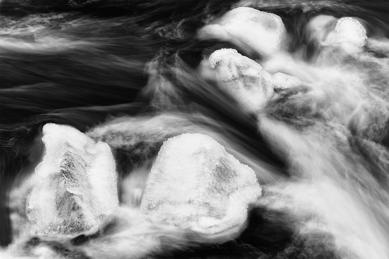 Palouse River ice rocks, Washington.