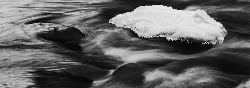 Ice cap along the Palouse River