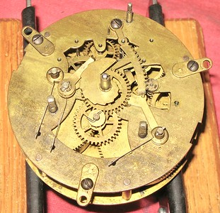 Waterbury round time and strike movement, before repair