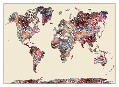 world map, map of the world, watercolor map