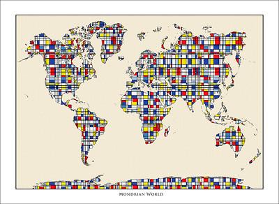 mondrian world map