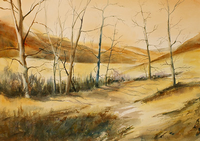 """After the Fire<br />  image 14"""" x 22""""<br /> #118 SOLD"""