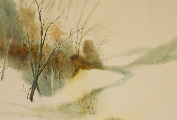 """Warm Snow<br /> 14"""" x 22""""<br /> Sold"""