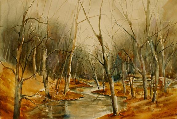 "Deep Woods<br /> 15"" x 21""<br /> (Sold)"