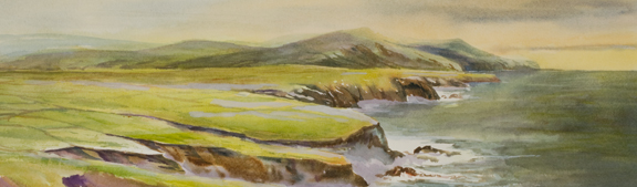 "Dingle Peninsula Ireland<br /> 6"" x 21""<br /> #1282 SOLD"