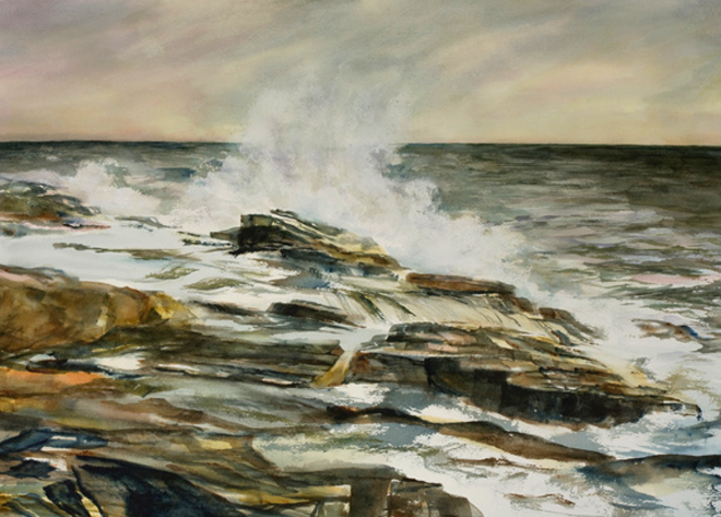 """Maine Power<br /> 20"""" x 28""""<br /> #1280 SOLD"""