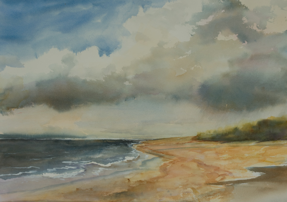 "Evening Storm<br /> 14.5"" X 21""<br /> #1323"