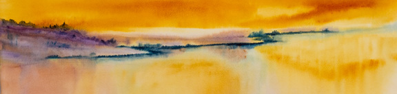 "Sunset<br /> image 5"" x 21 1/2""<br /> SOLD"
