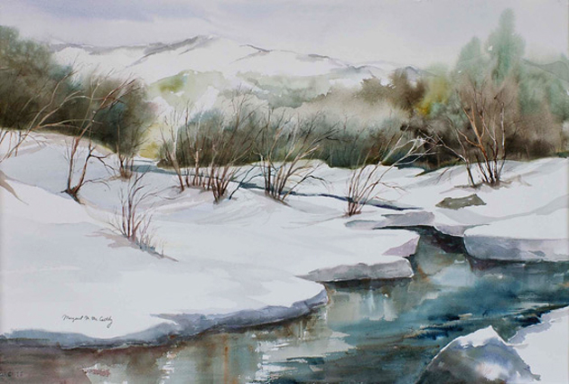 """Through the Moraine - Rocky Mountain National Park<br />  image 14"""" x 21""""<br />  #125<br /> SOLD"""