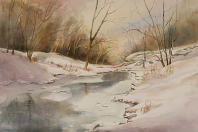 "Spring Thaw<br /> 14""x 21""<br /> #1381"