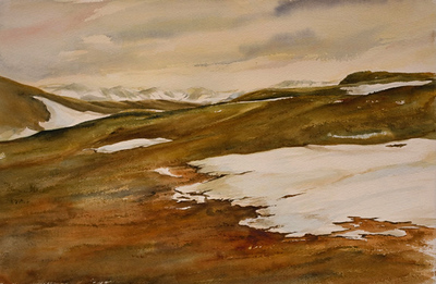 "Snow Melt - Rocky Mountain National Park<br /> image 14"" x 20""<br /> framed 22"" x 30""<br /> #206<br /> 2 archival mats<br /> conservation glass<br /> $535"