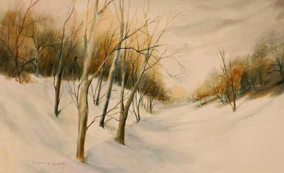 "Warm Snow<br /> 14"" x 22""<br /> SOLD"